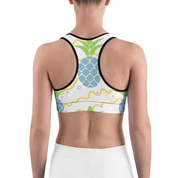 Cute Pineapple Sports Bra