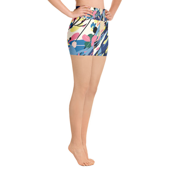 Cute Color Splash Yoga Shorts
