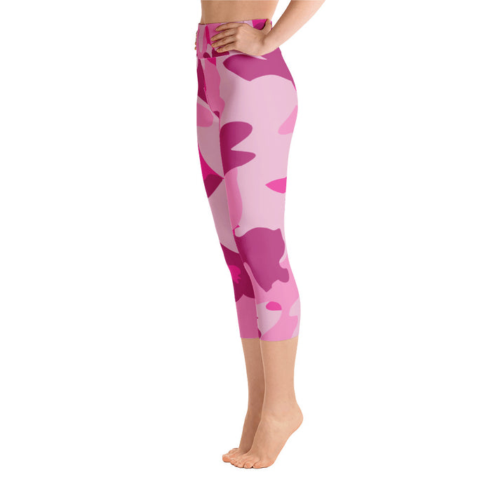 Cute Pink Yoga Capri Leggings