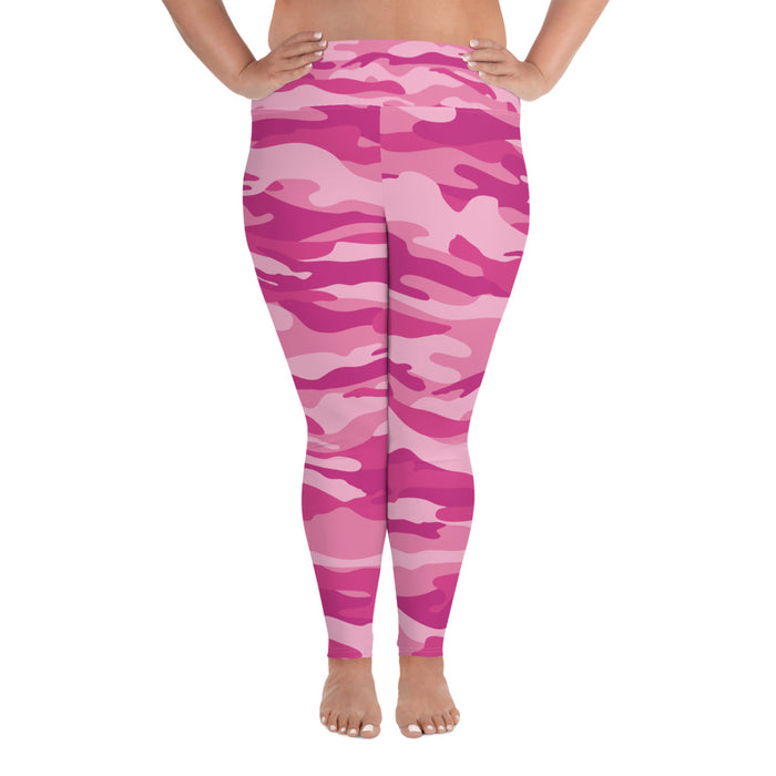 Cute Pink Plus Size Yoga Leggings (up to 6XL ) - Cool XL Leggings - Women's Plus Sized Yoga Leggings – Plus Size Workout Pants – Plus Sized Gym Leggings