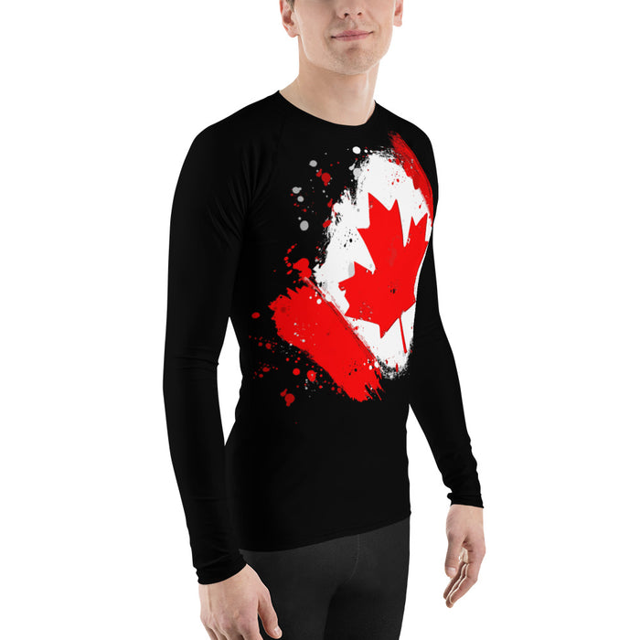 Canadian Flag Rash Guard - Canada Flag Rash Guards for Men (BJJ, MMA, Judo and more)