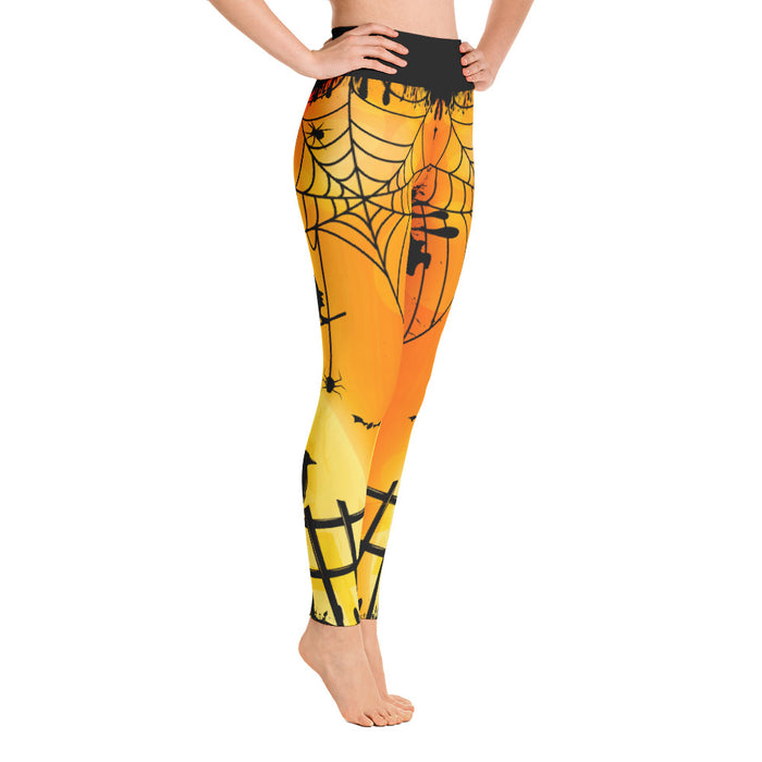 Super Cool Orange Halloween Yoga Leggings