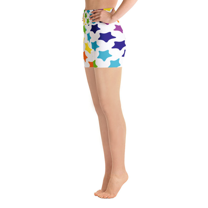 Rainbow Stars Yoga Shorts