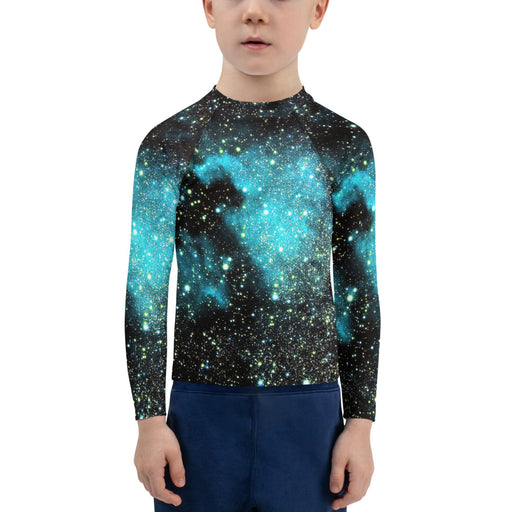 Space Print kids jiu jitsu rash guard - jiu jitsu rash guard kids - kids rash guard boys bjj - kids bjj rash guard - kids rash guard bjj - Rashie
