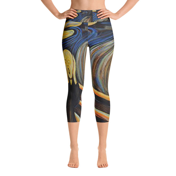 The Scream Yoga Capri Leggings