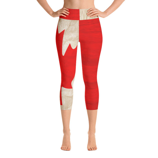 Canadian Flag Yoga Capri Leggings
