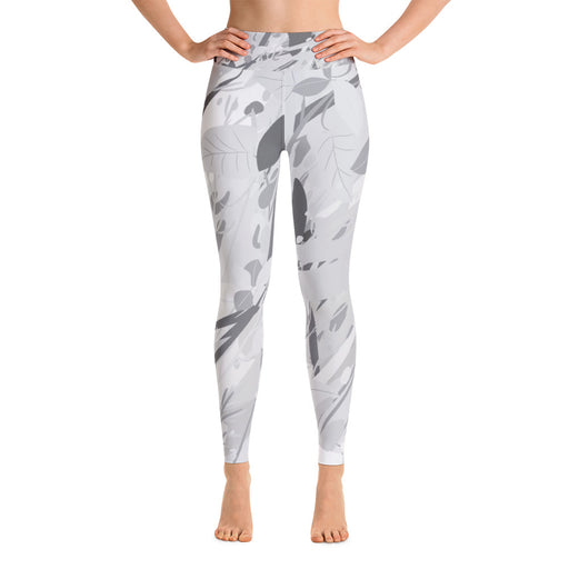 Grey White Color Splash Yoga Leggings