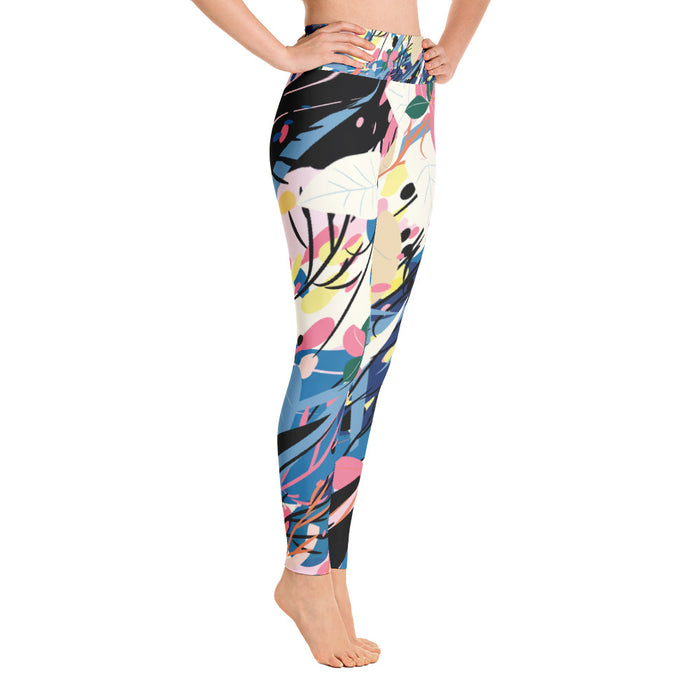 Vivid Color Splash Yoga Leggings