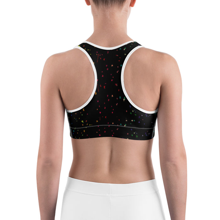 Cool Dripping Paint Effect Yoga Sports Bra