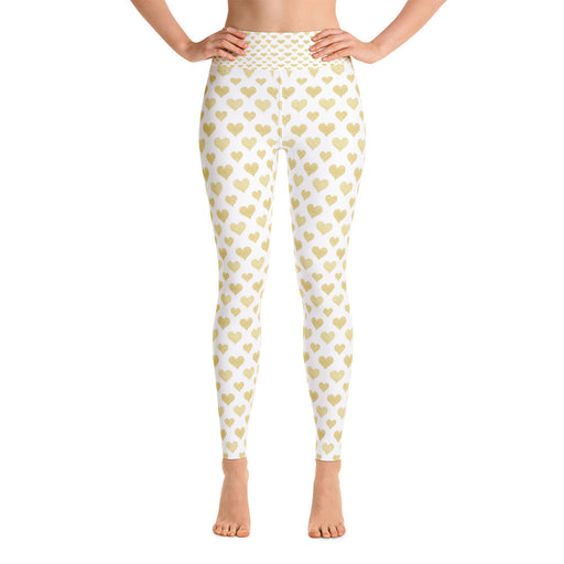 Gold and White Yoga Leggings
