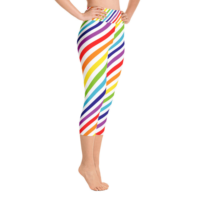 Rainbow Burst Yoga Capri Leggings