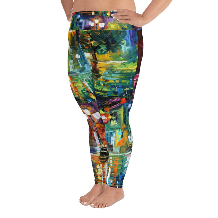 Beautiful Art Plus Size Yoga Leggings (up to 6XL ) - Cool XL Leggings - Women's Plus Sized Yoga Leggings – Plus Size Workout Pants – Plus Sized Gym Leggings