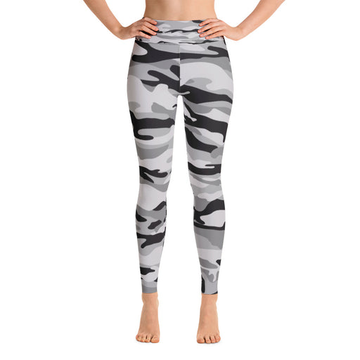Cute Black and Grey Camo Yoga Leggings