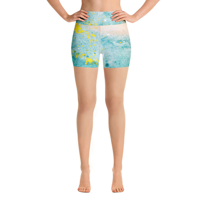 Watercolor Yoga Shorts