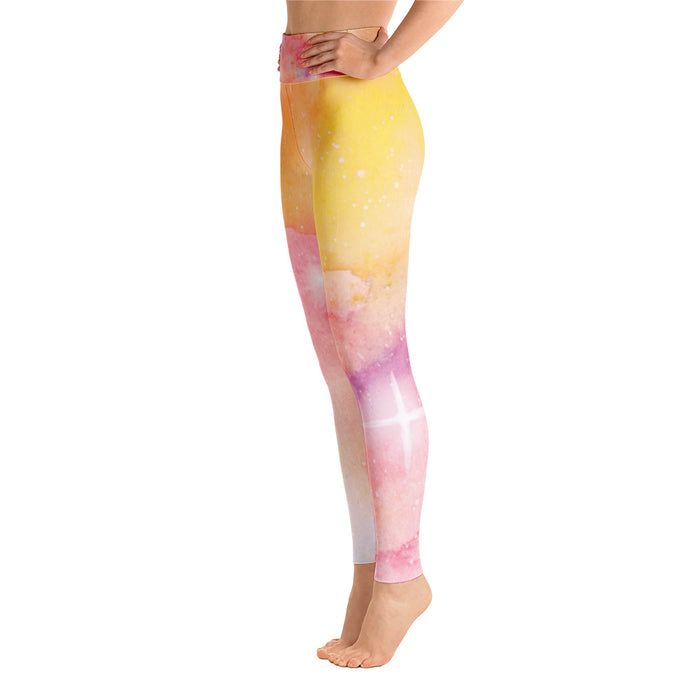 Cute Watercolor Yoga Leggings
