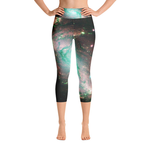 Cute Space Yoga Capri Leggings