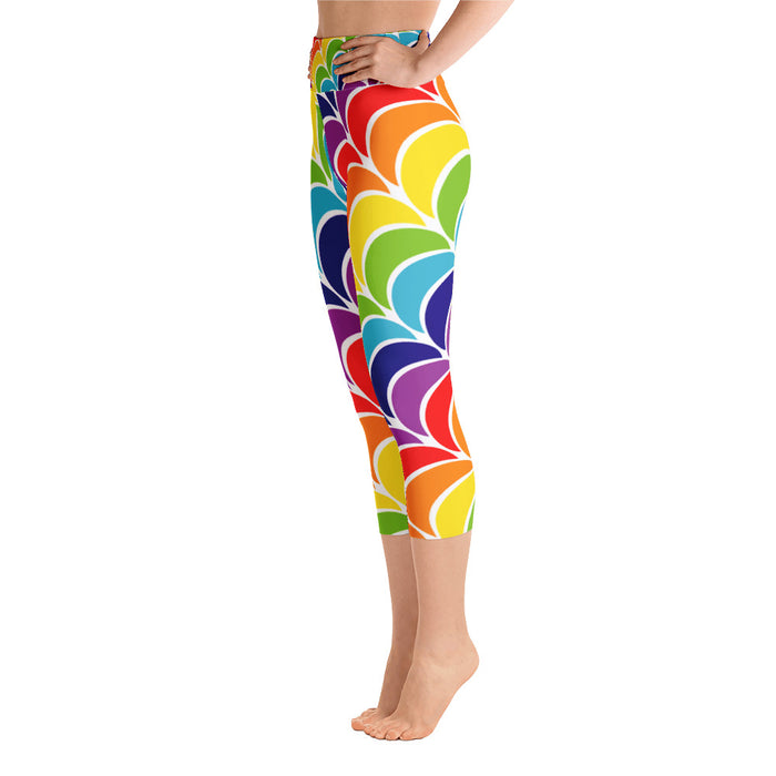 Cute Rainbow Yoga Capri Leggings
