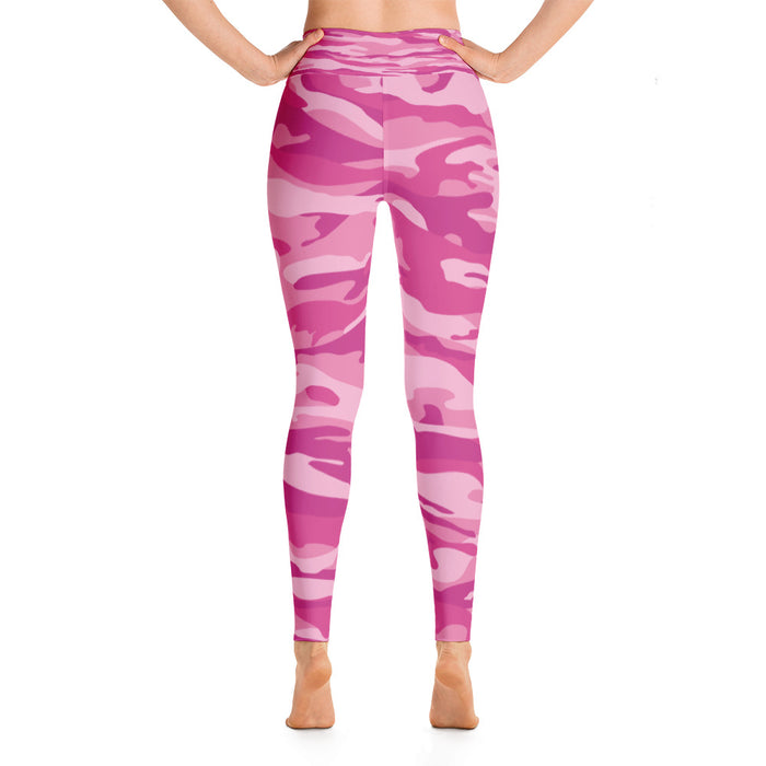 Cute Pink Yoga Leggings