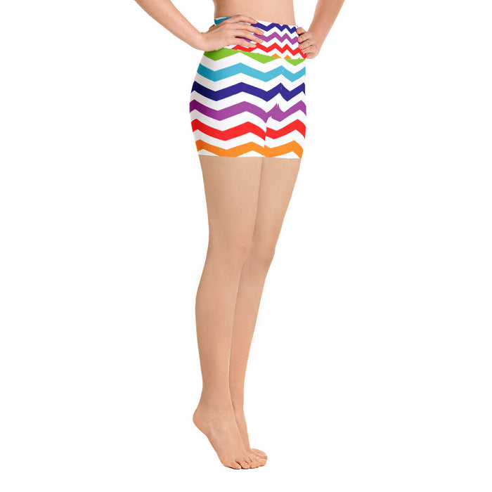 Cute Rainbow Pattern Yoga Shorts