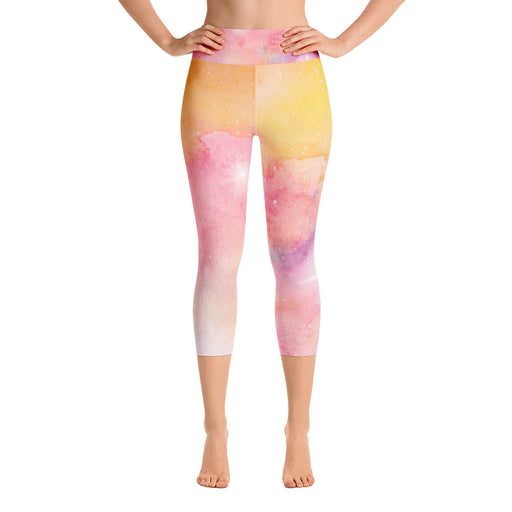 Watercolor Yoga Capri Leggings