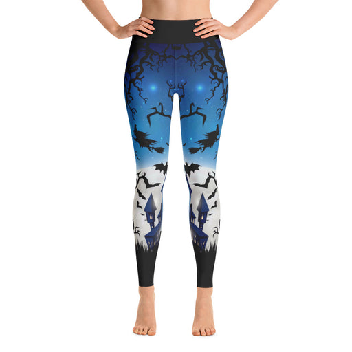 Cool Blue Halloween Yoga Leggings