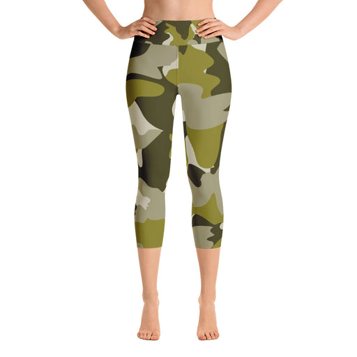 Classic Military Camo Yoga Capri Leggings
