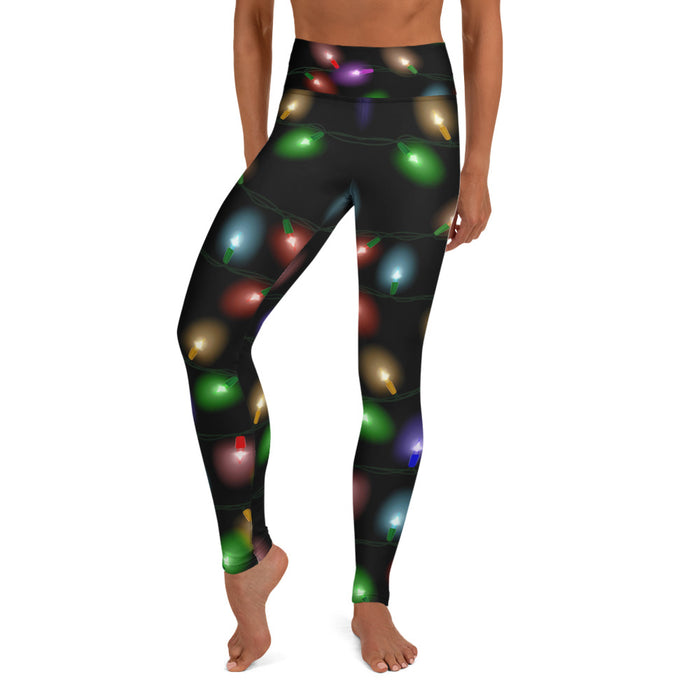 Cute Christmas Leggings (Free Shipping) - Ugly Sweater Leggings For Women - Made in the US - Activewear Gym Leggings - Xmas Yoga Pants