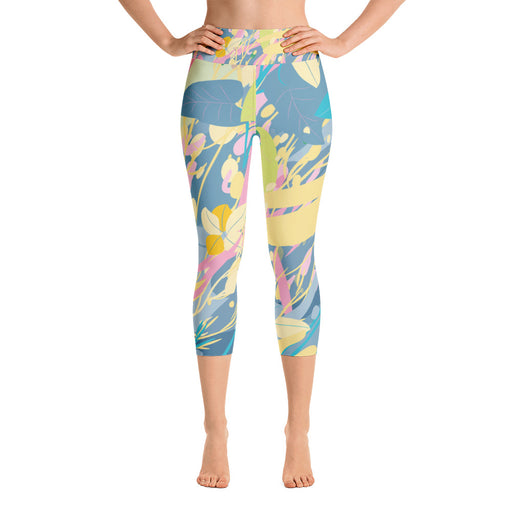 Cute Color Splash Yoga Capri Leggings