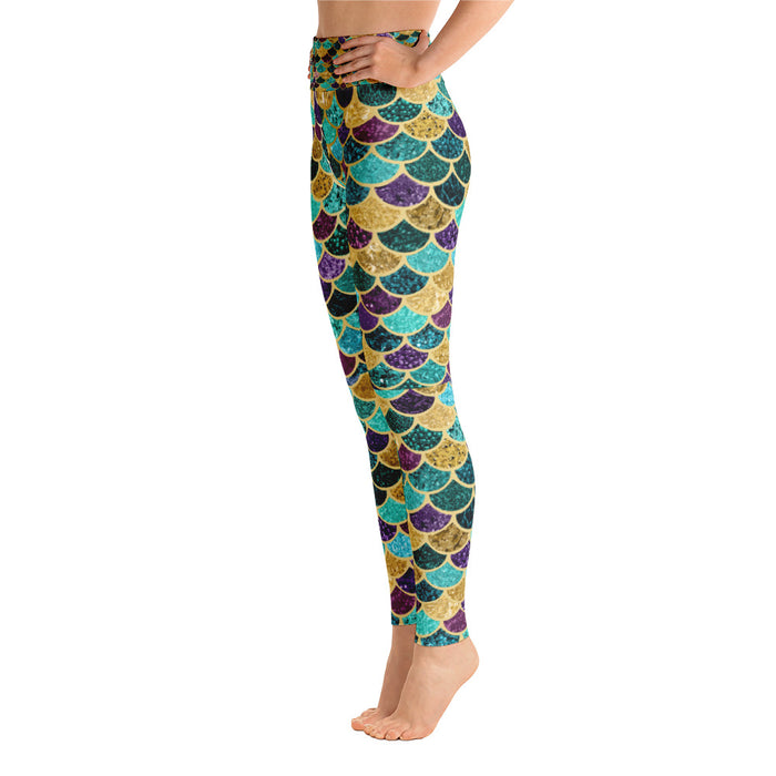 Cool Mermaid Scale Yoga Leggings