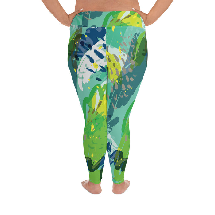Wild Color Splash Plus Size Yoga Leggings (up to 6XL ) - Cool XL Leggings- Women's Plus Sized Yoga Leggings –Plus Size Workout Pants –Plus Sized  Gym Leggings