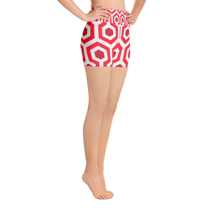 Red Pentogram Yoga Shorts