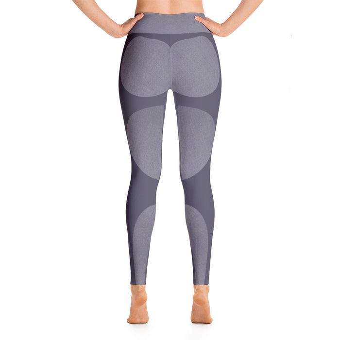Subtle Grey Shapes Yoga Leggings