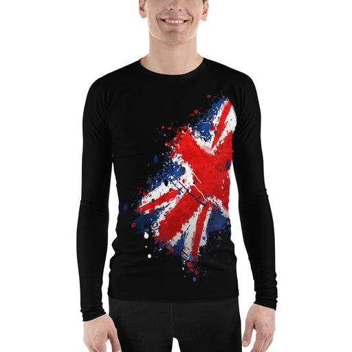 UK Flag Men's Rash Guard - Union Jack Flag Rash Guard (For BJJ, Judo and MMA)