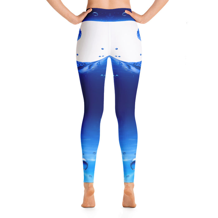 Cool Water Drop Yoga Leggings