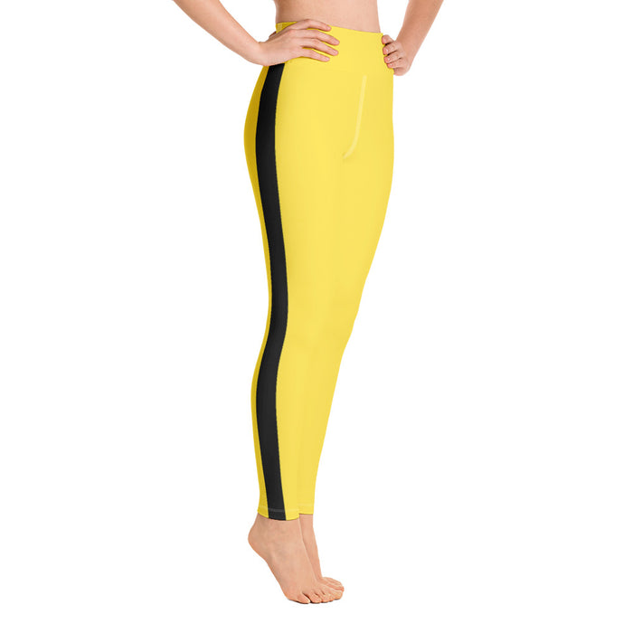 Cute Bruce Lee / Kill Bill Yoga Leggings (Free Shipping) Squat Proof Women's Yoga Leggings - Made in the US - Activewear Gym