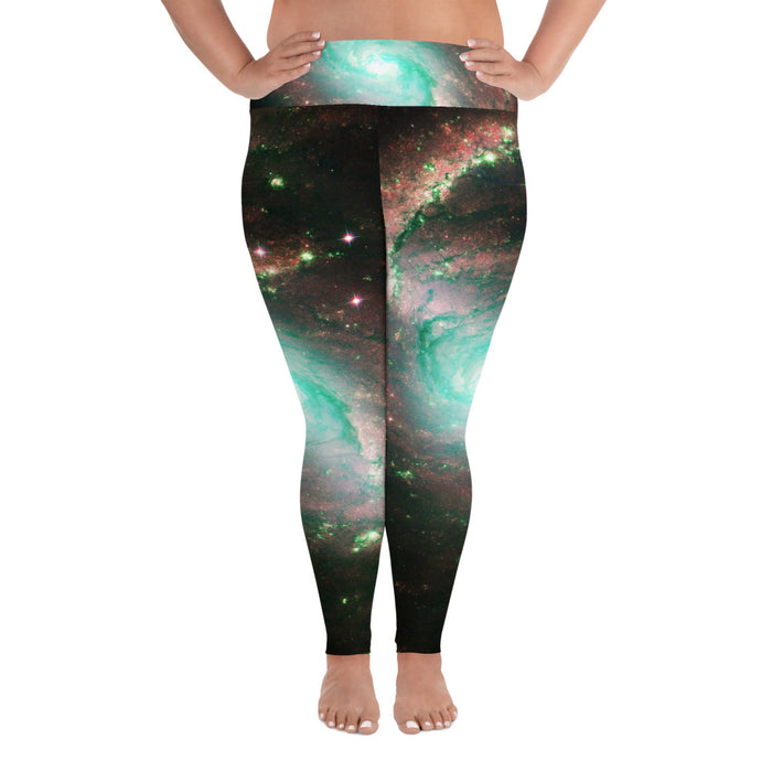 Cute Space Theme (Design 10) Plus Size Yoga Leggings (up to 6XL ) - Cool XL Leggings- Women's Plus Sized Yoga Leggings –Plus Size Workout Pants –Plus Sized  Gym Leggings