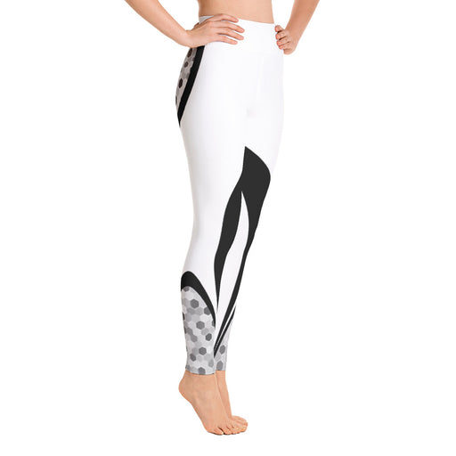 Classic White and Black Yoga Leggings