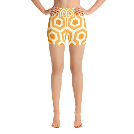 Yellow Pentogram Yoga Shorts
