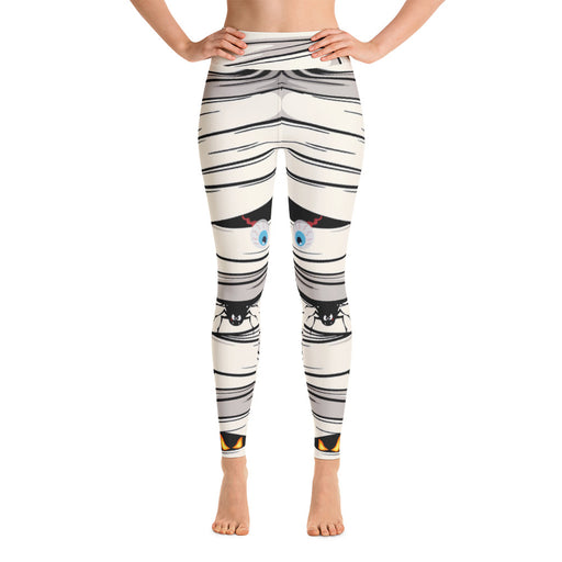 Cute Halloween Mummy Yoga Leggings