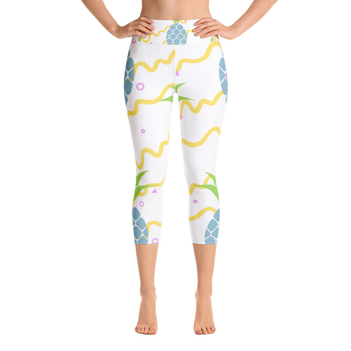 Cute Pineapple Yoga Capri Leggings