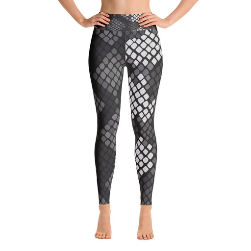 Cute Black Snake Pattern Yoga Leggings