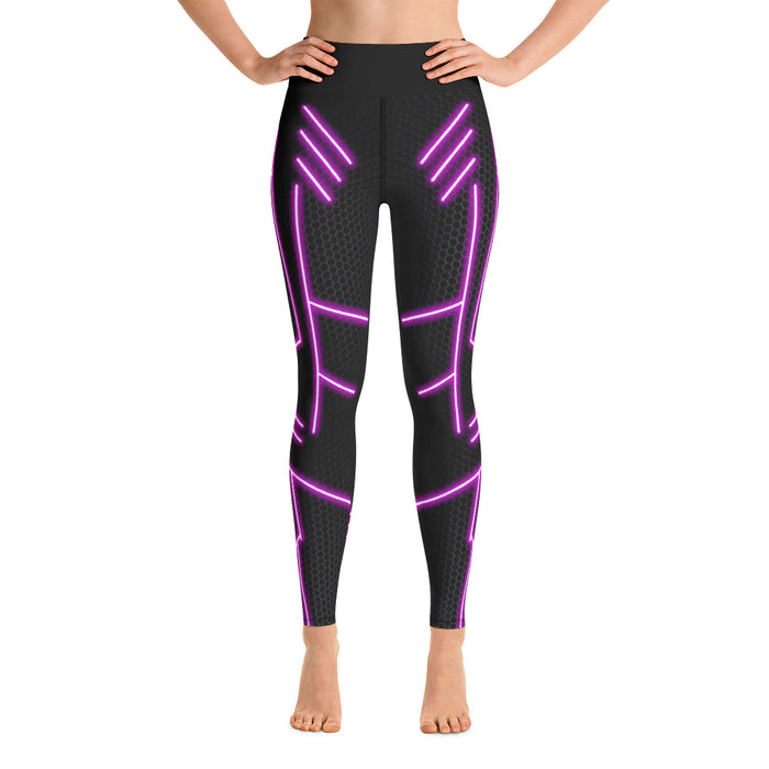 Cool Neon Pink Yoga Leggings