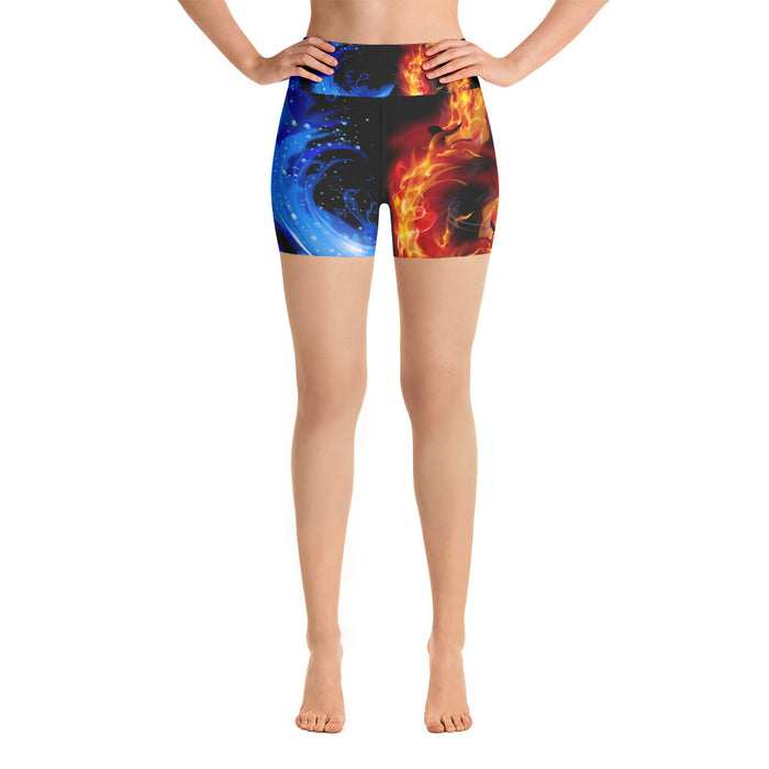 Sleek Fire and Ice Yoga Shorts