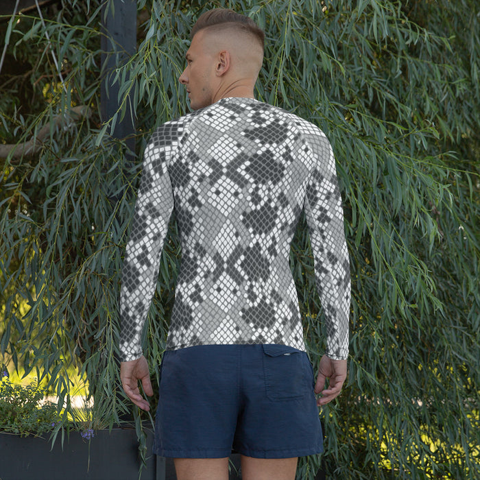 Cool Snake Print MMA Rash Guard - Made in the US Rash Guards for Men
