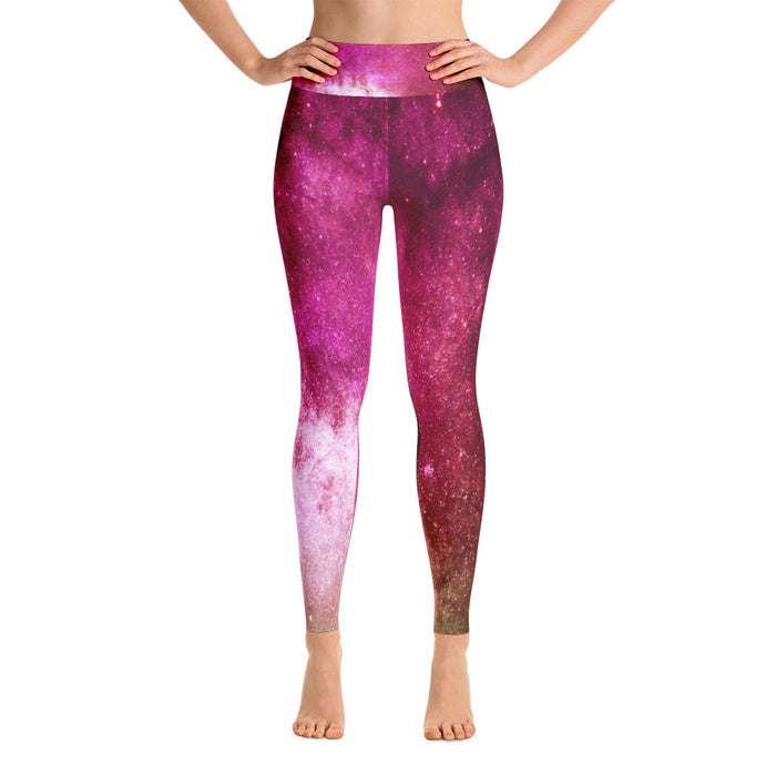 Cute Space Pattern Yoga Leggings (Design 3)