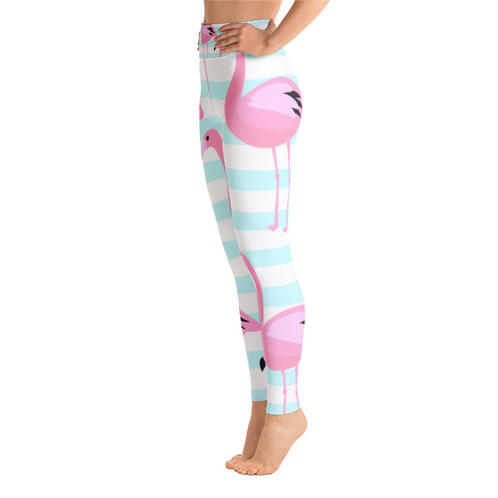 Cute Flamingo Yoga Leggings