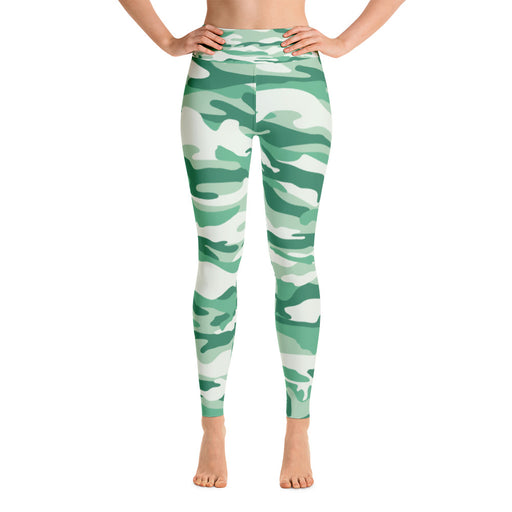Cute Green Camo Yoga Leggings