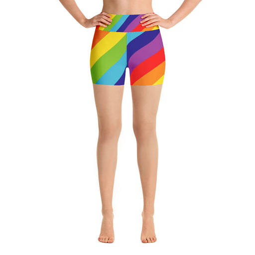 Rainbow Yoga Shorts