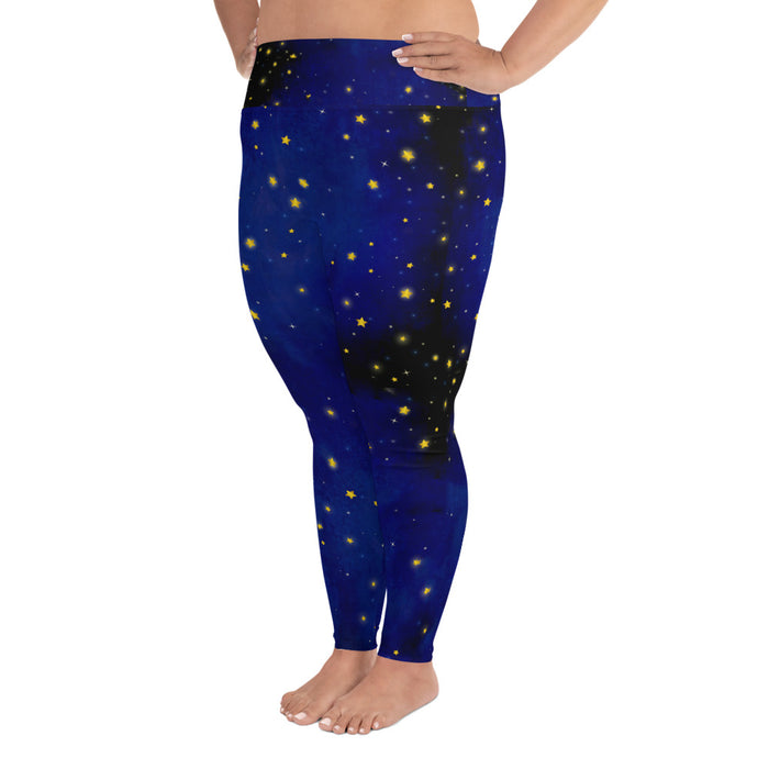 Beautiful Night Sky Plus Size Yoga Leggings (up to 6XL ) - Cool XL Leggings - Women's Plus Sized Yoga Leggings – Plus Size Workout Pants – Plus Sized Gym Leggings