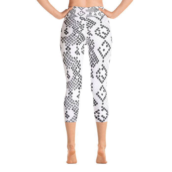 Classic Snake Pattern Yoga Capri Leggings